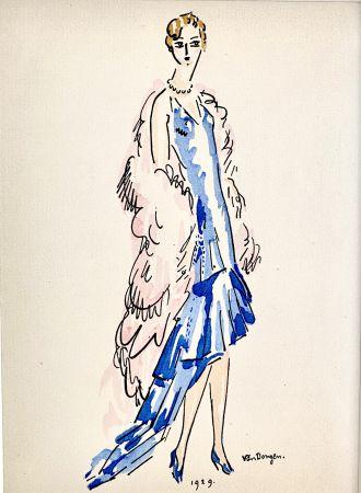 Pochoir Van Dongen - La Parisienne