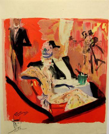 Litografía Domergue - La  Parisienne - Chez Maxim's