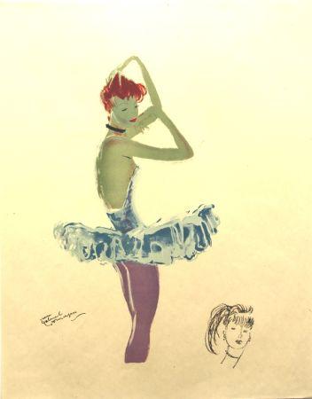 Litografía Domergue - La Parisienne  Ballerine