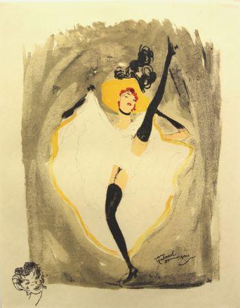 Litografía Domergue - La  Parisienne  Danseuse Cancan