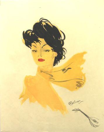Litografía Domergue - La Parisienne   GiGi