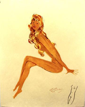 Litografía Domergue - La parisienne   Sylvie