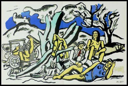 Litografía Léger (After) - LA PARTIE DE CAMPAGNE