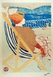 Litografía Toulouse-Lautrec - La passagère du 54