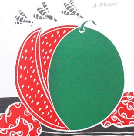 Litografía Fassianos - La pastèque