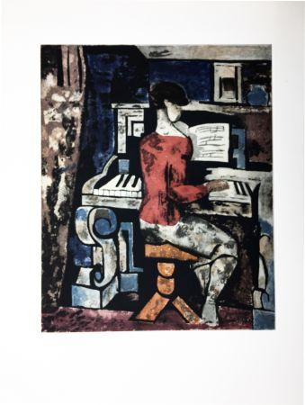 Aguafuerte Y Aguatinta Gromaire - La pianiste