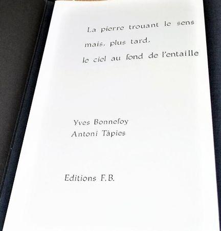 Libro Ilustrado Tàpies - La Pierre Trouant Le Sens Mais, Plus Tard, Le Ciel Au Fond De l'Entaille.