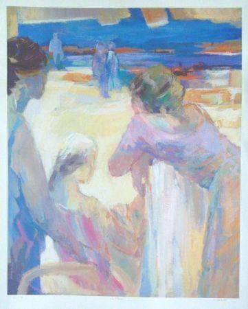 Litografía Baroni - La plage