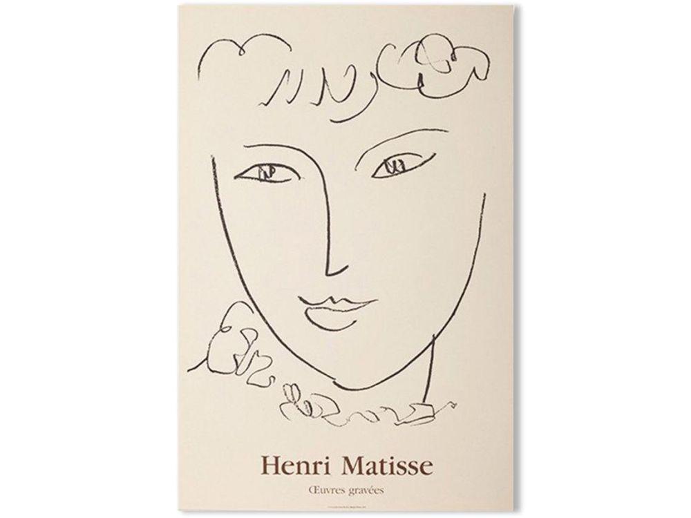 Litografía Matisse - LA POMPADOUR. Affiche en lithographie pour l'exposition de 1951.