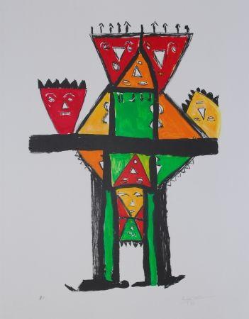 Litografía Ionesco - La postérité royale