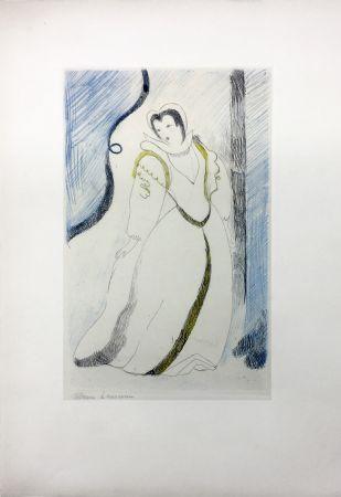 Aguafuerte Laurencin - LA PRINCESSE DE CLÈVES (Pl. III signée au crayon). 1947