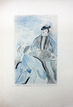 Aguafuerte Laurencin - LA PRINCESSE DE CLÈVES (Pl. VIII signée au crayon). 1947