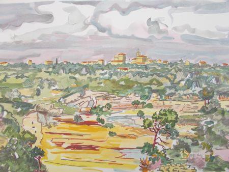 Litografía Brayer - La Provence,le village