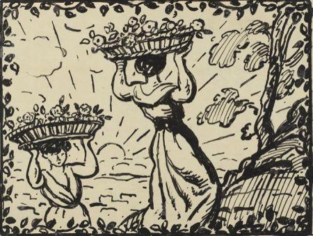 Sin Técnico Espagnat (D') - La récolte des roses circa 1906