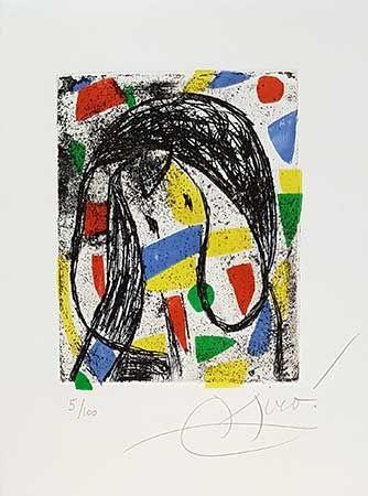 Grabado Miró - La révolte des caractères