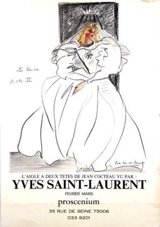 Offset Saint Laurent - La Reine L'aigle à deux Têtes de Jean Cocteau