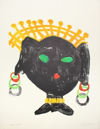Litografía Ionesco - La reine noire