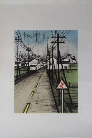 Litografía Buffet - La route