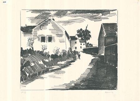 Litografía Vlaminck - La route de Nesles