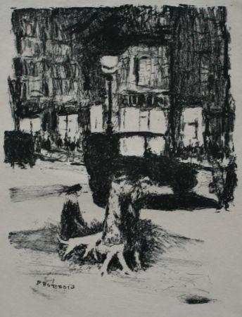 Litografía Bonnard - La Rue