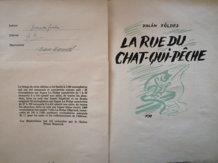 Libro Ilustrado Masereel - La Rue du Chat-qui-pêche