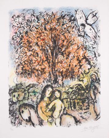 Litografía Chagall - La Sainte Famille