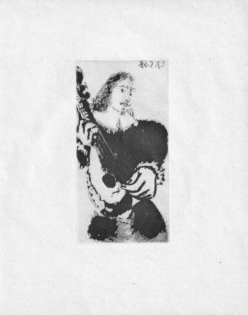 Aguatinta Picasso - La Serenade