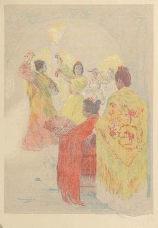 Litografía Lunois - La sevillana