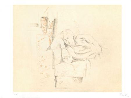 Litografía Balthus - LA SIESTE