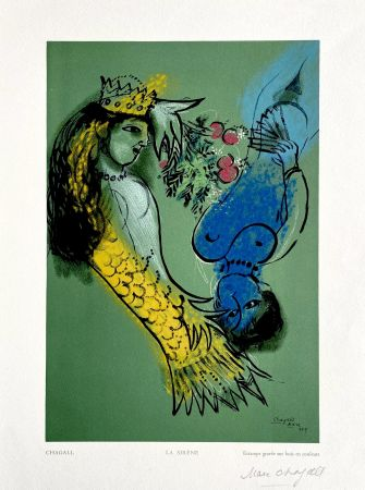 Grabado En Madera Chagall - La Sirene