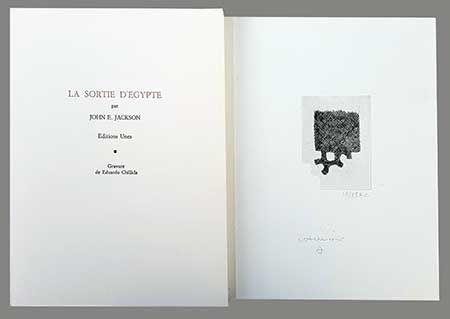 Libro Ilustrado Chillida - La Sortie D'egypte