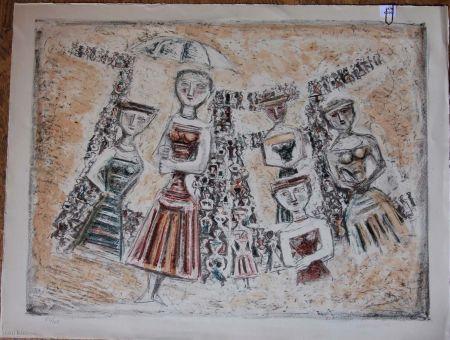 Litografía Campigli - La strada