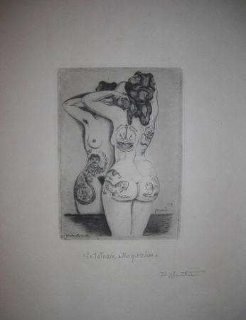Punta Seca Martini - La tatuata allo specchio