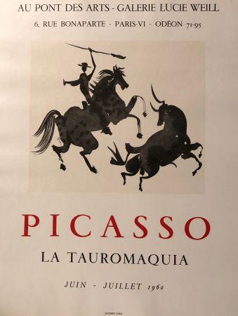 Cartel Picasso - La Tauromaquia - Au Pont Des Arts - Galerie Lucie Weil, Paris Juin - Juillet 1960