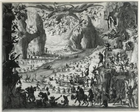 Aguafuerte Y Aguatinta Desmazières - La Tentation de Saint-Antoine