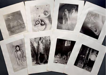 Litografía Redon - LA TENTATION DE SAINT ANTOINE. Lithographies originales d'Odilon Redon.