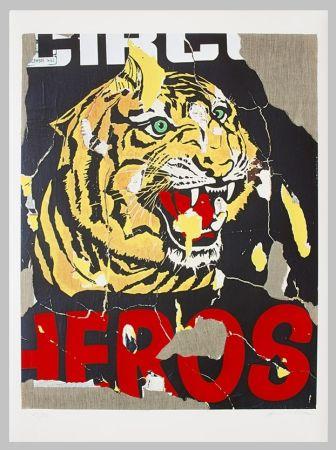 Serigrafía Rotella - La tigre