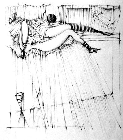 Aguafuerte Bellmer - La toupies
