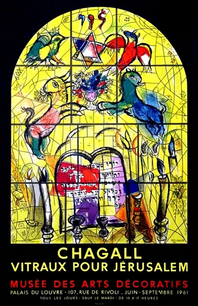 Cartel Chagall - LA TRIBU DE LEVI (Musée des Arts Décoratifs - Paris, 1961). Tirage original.