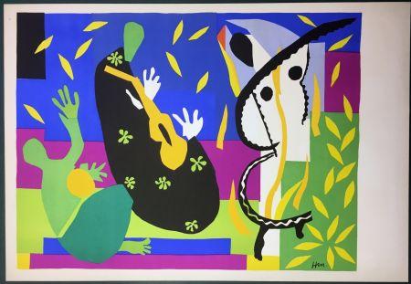 Litografía Matisse - LA TRISTESSE DU ROI. Lithographie sur Arches 1952 (tirage original)