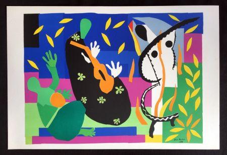 Litografía Matisse - LA TRISTESSE DU ROI. Lithographie sur Arches 1958 (tirage original)