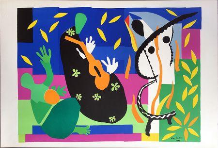 Litografía Matisse - LA TRISTESSE DU ROI. Lithographie sur Arches 1958 (tirage original. Tériade éditeur)