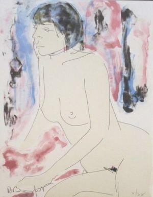Litografía Bonnefoit - La vagabonde