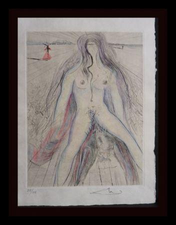 Grabado Dali -  La Venus aux Fourrures Woman on Horse