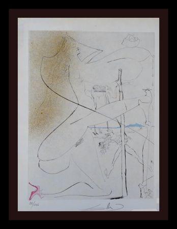 Grabado Dali - La Venus aux Fourrures Woman With Crutch