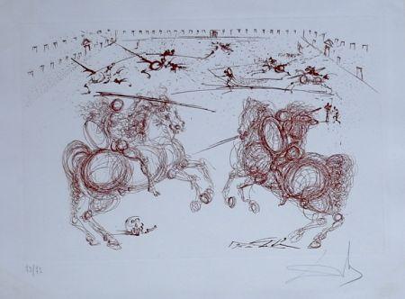Grabado Dali - La Vida es un Sueno Los Cabaleros (combat de cavaliers) (14)