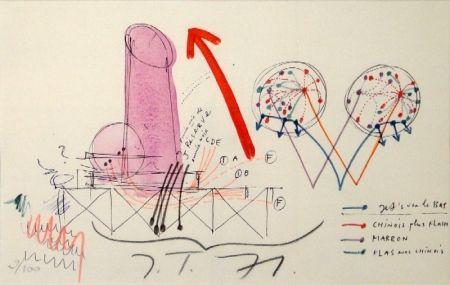 Litografía Tinguely - La Vittoria.