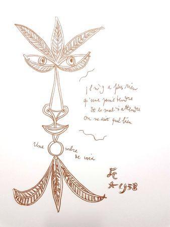 Litografía Cocteau - La Voix