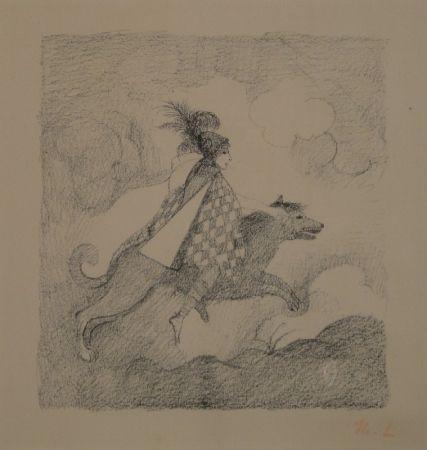 Litografía Laurencin - La voyageuse