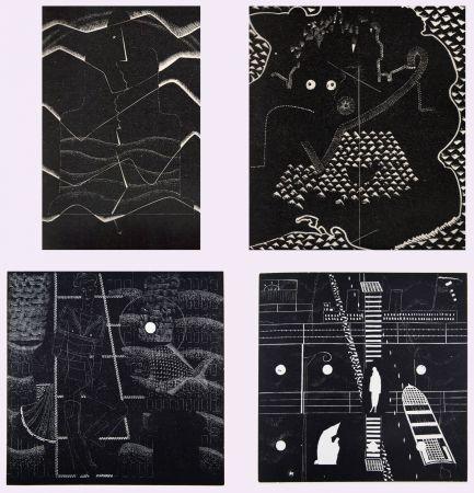 Libro Ilustrado Alexeïeff - L'ABBÉ DE L'ABBAYE. Poèmes supernaturalistes de Jean Genbach (1927)